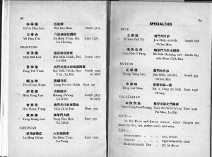 Restaurant addresses, Beijing 1935