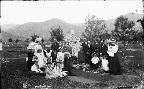 A gathering at Columbia Cemetery in Boulder in the late 1800s. (Carnegie Branch Library for Local History, Boulder Historical Society Collection / Courtesy Photo)